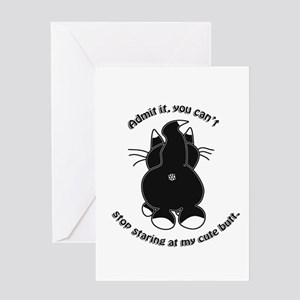Admit it Cat Butt Greeting Cards