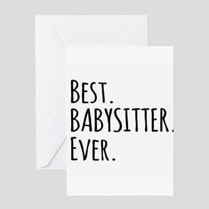 Best Babysitter Ever Greeting Cards