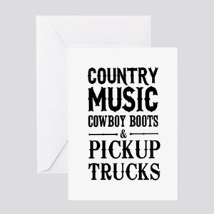 Country Music, Cowboy Boots & Pickup Trucks Greeti