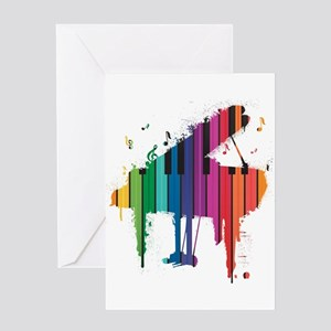 Paint Splash Piano Greeting Card