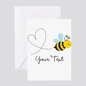 Cute Bee and Heart; honeybee; Personalized Kid's G