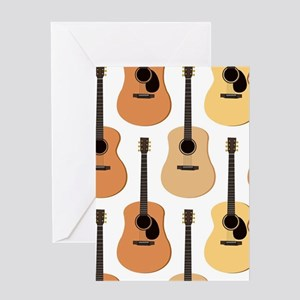 Acoustic Guitars Pattern Greeting Card