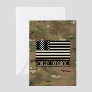 So Proud of You: Military Camouflage Greeting Card