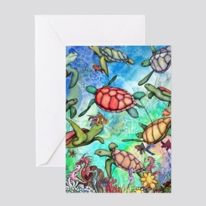 Sea Turtles Greeting Card