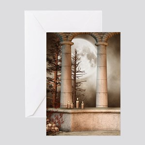 Gothic Marble Columns Greeting Card