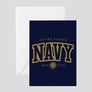 United States Navy Athletic Greeting Card