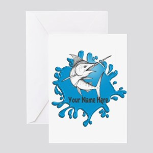 Marlin Art Greeting Cards