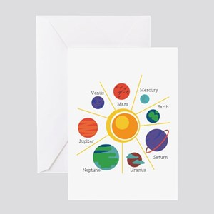 Planet Names Greeting Cards