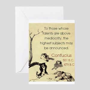 To Those Whose Talents Are Above - Confucius Greet