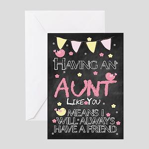 Aunt Chalkboard Birthday Card Greeting Cards