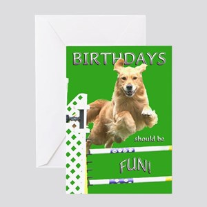 Golden Retriever Birthday Card Fun