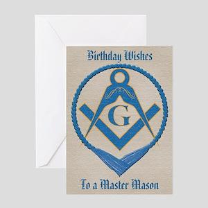 Blue Lodge Mason Greeting Cards - CafePress