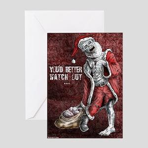Zombie Christmas Greeting Cards Cafepress