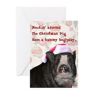 Christmas Pig.Piggy Christmas Card
