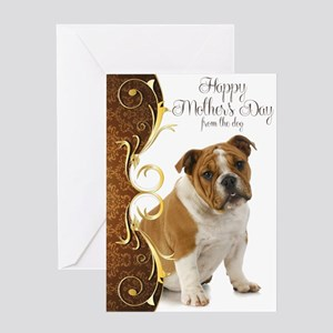 Bulldog Mother's Day Card