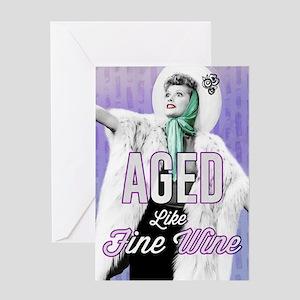Aged Like Fine Wine Colorful Greeting Card