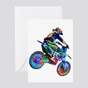Super Crayon Colored Dirt Bike Care Greeting Cards