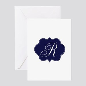 Monogram Initial by LH. Greeting Cards