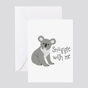 Snuggle With Me Greeting Cards