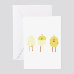 Hatched Chick Greeting Cards