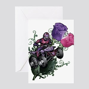 Flower Powered Quad Greeting Cards