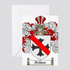 Nelson Family Crest Greeting Card