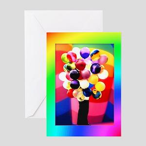 Balloons Girl Fill In Blanks Birthday Card