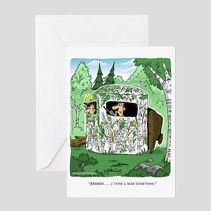 Funny Deer Hunting Greeting Cards - CafePress