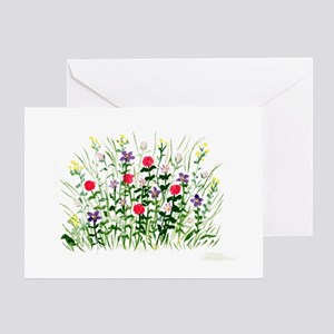 Field of Flowers Greeting Cards