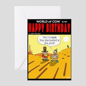 Funny Cowboy 1st Birthday Greeting Cards