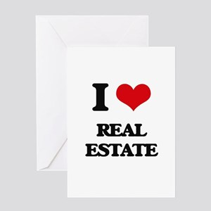 I Love Real Estate Greeting Cards