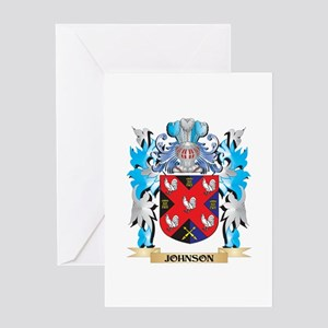 Johnson Family Crest Greeting Cards - CafePress