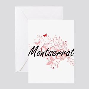 Montserrat Artistic Design with But Greeting Cards