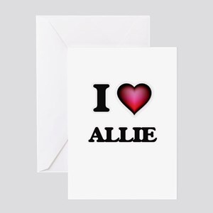 I Love Allie Greeting Cards
