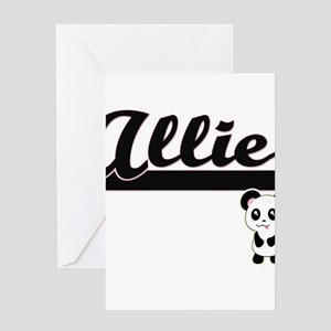 Allie Classic Retro Name Design wit Greeting Cards