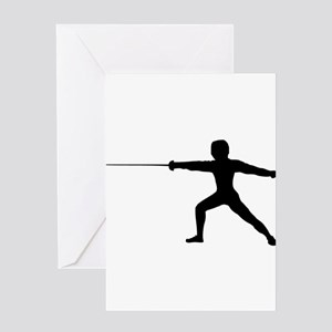 Guy Fencer Greeting Cards