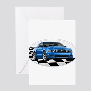 GB14MustangGT Greeting Cards