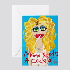cocktail blonde Greeting Card