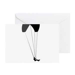 Paragliding-12-A Greeting Card