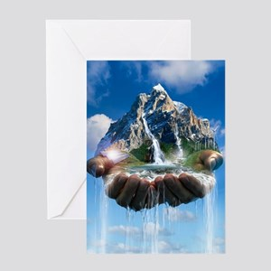 Environmental care, conceptual image Greeting Card