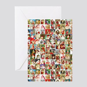 Many Many Santas Greeting Card