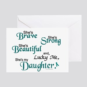 Lucky Me 1 Daughter OC Greeting Card