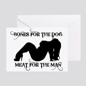 MEATFORTHEMAN NIGHTIE Greeting Card