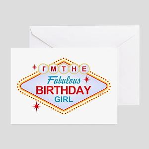 Las Vegas Birthday Girl Greeting Card