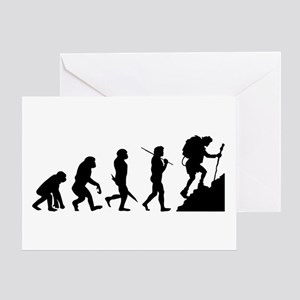 Evolution - Hiker Greeting Card