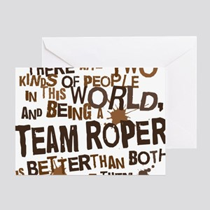 team_roper_brown Greeting Card