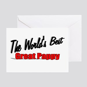 """The World's Best Great Pappy"" Greeting Card"