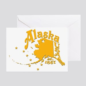ALASKA 1867 GOLD Greeting Card
