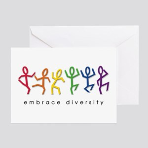 gay pride dance Greeting Card
