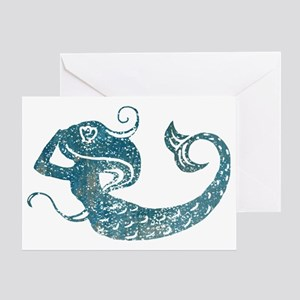 mermaid-worn_tr Greeting Card